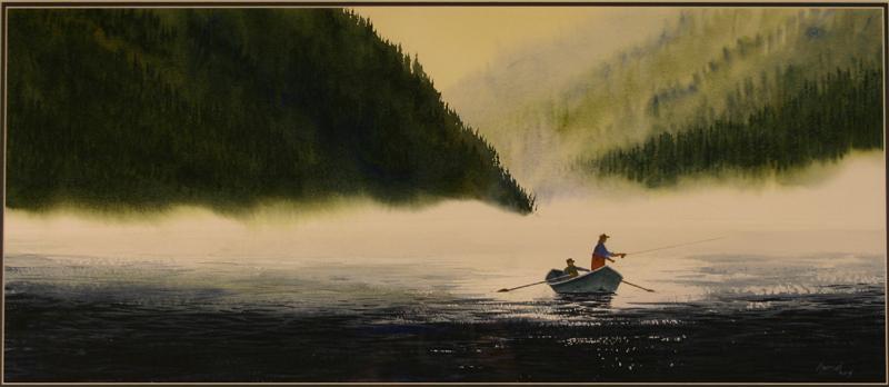 "Loren Kovich, ""A Good Drift"", watercolor"
