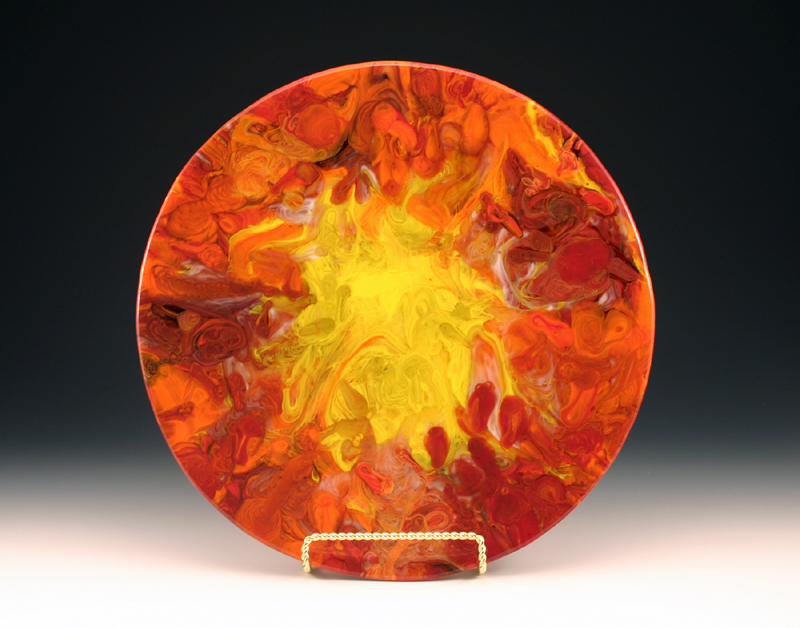 "Mary Harris, ""Sunburst"", glass"